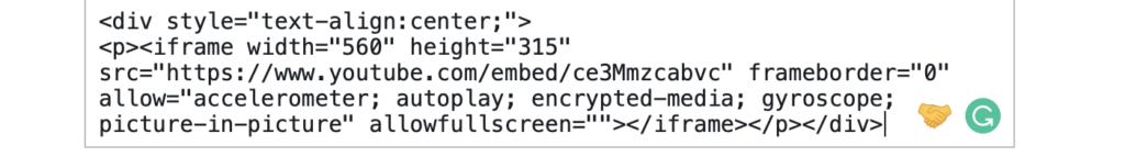 Center Embed Code